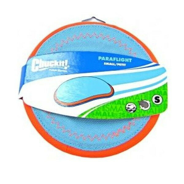 ChuckIt Paraflight Frisbee Interactive Floats in Water Fly Toss Dog Toy SMALL $10.95
