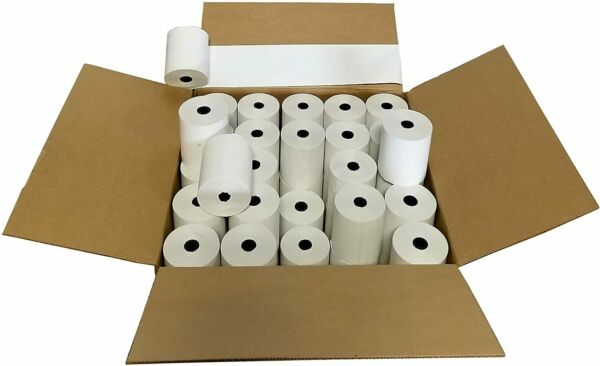 3 1 8quot; x 230quot; Thermal Paper Rolls 50 Rolls Cheapest Price Guaranteed. $43.00