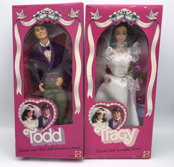 Tracy & Todd Dolls Wedding 1982 #4103 #4253 Never Played With Barbie Friends