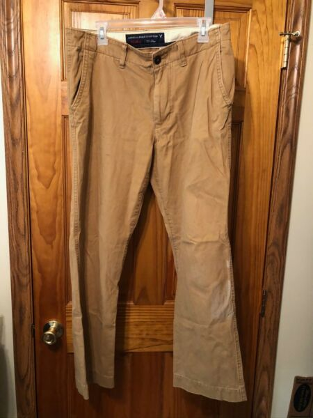 *GUC* American Eagle Outfitters Khaki Brown Mens Pants - 33 x 32 - Relaxed Fit