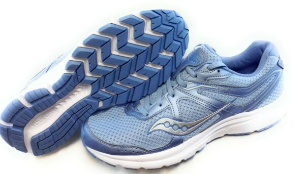Womens Saucony Grid Cohesion 11 S10420-3 Fog Blue White Silver Sneakers Shoes