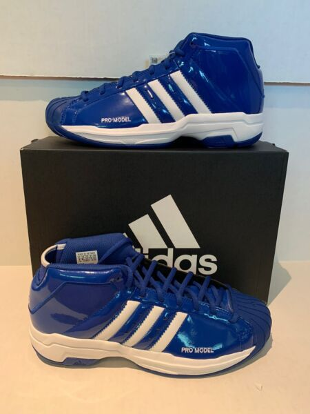 NIB Men's adidas Pro Model 2G Basketball Shoes Royal Blue/White Sz8.5EF9820 400