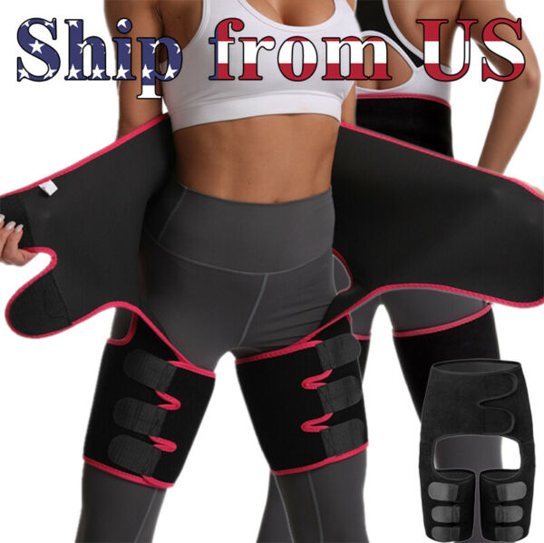 High Waist Thigh Body Shaper Trimmers Trainer Butt Lifter Slimming Burn Belt US