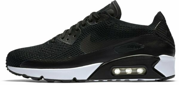 NIKE AIR MAX 90 ULTRA 2.0 FLYKNIT BLACK/WHITE SIZE 11.5 NEW (875943-004)