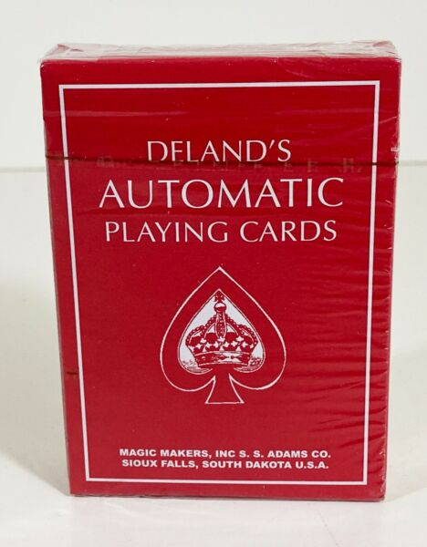 Deland's Automatic Stripper Deck Playing Cards Magic Vintage Red Edition Trick $7.00