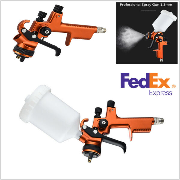 HVLP Pneumatic Spray Gun 1.3mm With 600ml Cup Auto Paint Sprayers For Car SUV