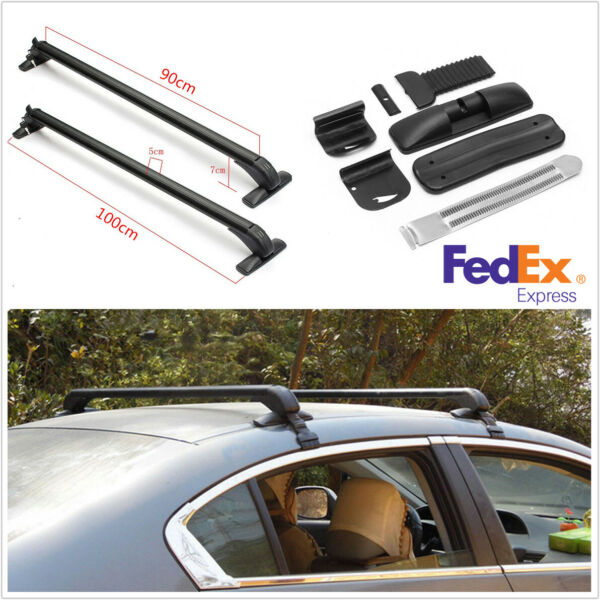 2Pcs Alloy Car Top Rack Rail Luggage Carrier Baggage Roof Cross Bar+Accessories $121.82