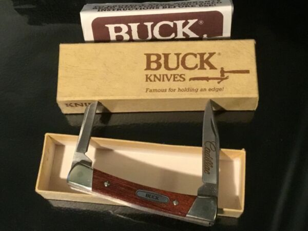 Cadillac Collector BUCK Pocket Knife # 705 1987 Excellent in original box