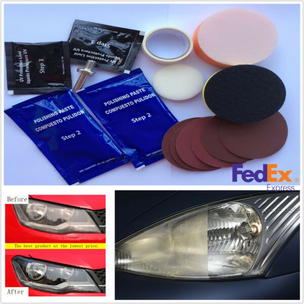 Car Headlight Headlamp Cover Cleaning Restoration Restorer Polishing Tool Kits