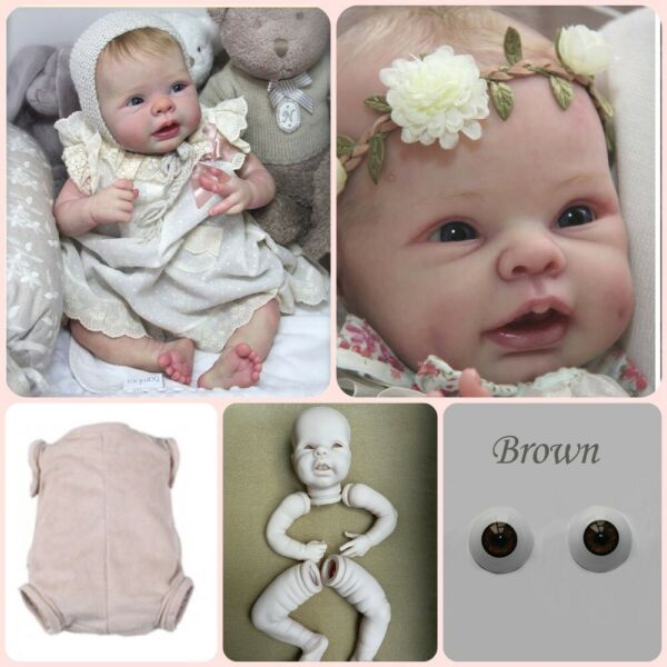 Blank Reborn Kits Silicone Baby Dolls Unpainted Reborn Baby Dolls Mold 22 inches