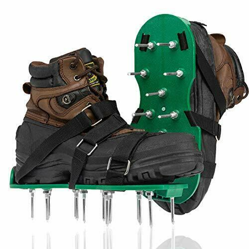 Punchau Lawn Aerator Shoes w Metal Buckles and 3 Straps