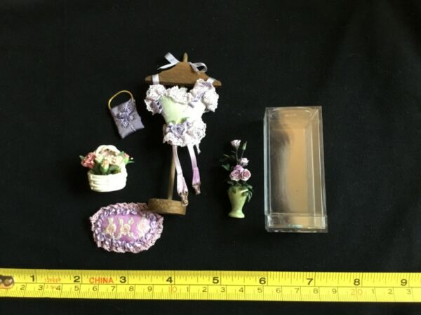 Vintage Dollhouse FRENCH Accessories Lot Miniature 1:12 $30.00