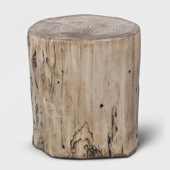 PROJECT 62 FAUX WOOD STUMP INDOOR OUTDOOR TABLE BROWN *NEW $79.99