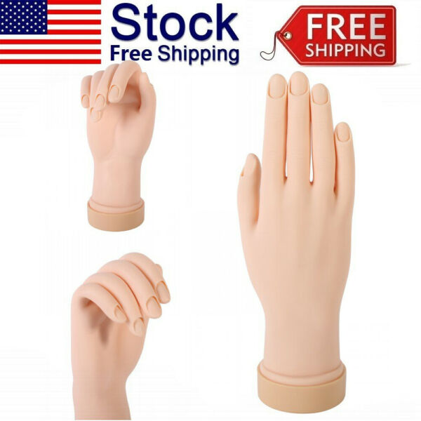 Practice Hand Model Flexible Movable Soft Fake Hands For Nail Art Training Kit