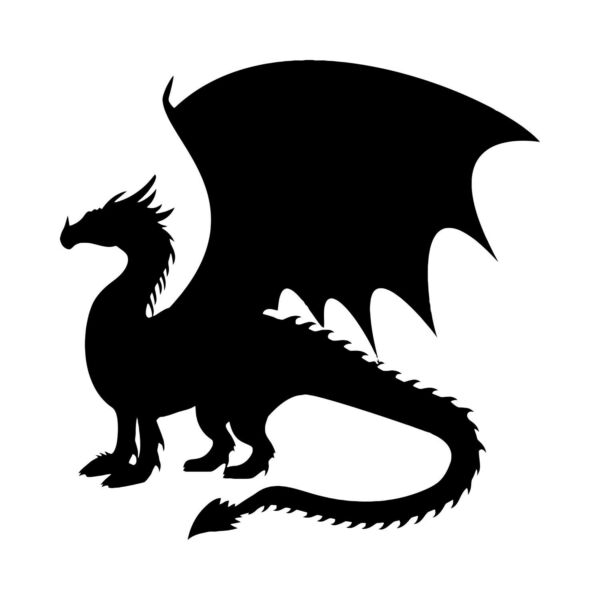 DRAGON Vinyl Decal Sticker V4 Wyvern Medieval Fantasy Gaming Fire Serpent