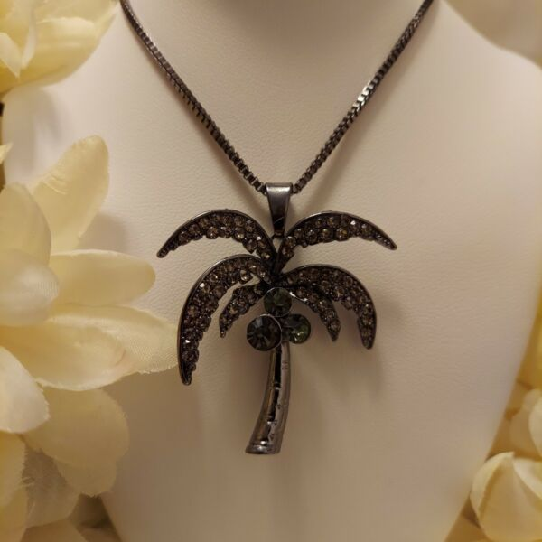 Betsey Johnson Coconut Palm Tree Necklace