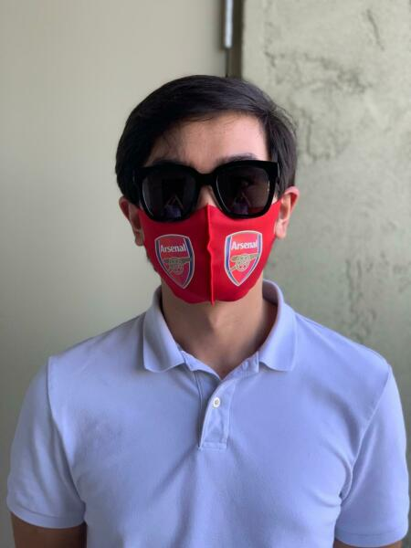 NEW WASHABLE SNUG FIT FACE MASK WITH ENGLISH PREMIER LEAGUE SOCCER CLUBS LOGO