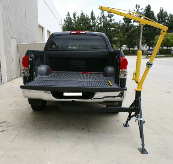 Swivle 360 Receiver Hitch Mounted Crane 1000 Lbs Capacity Portable Steel Mount $469.99
