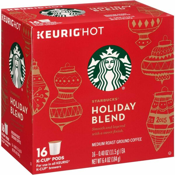 Keurig Starbucks Holiday Blend 2019 Edition Medium Roast Coffee 16 Cups A210