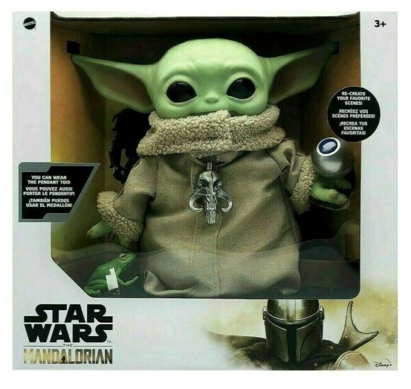 Star Wars Mandalorian The Child 11quot; Baby Yoda Plush Doll Necklace amp; Accessories