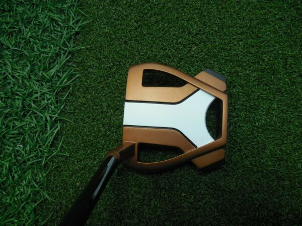 Taylormade Tour Issue SPIDER X TOUR CopperWhite #3 hosel BORDERS wheadcover