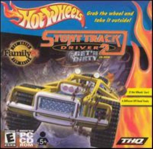 Hot Wheels: Stunt Track Driver 2 PC CD off road dirt truck racing vehicles game $2.23