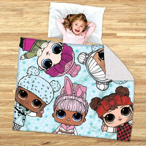 LOL Surprise 2 in 1 Slumber and Cozy Cover Sleeping Bag Blanket Plush NWT