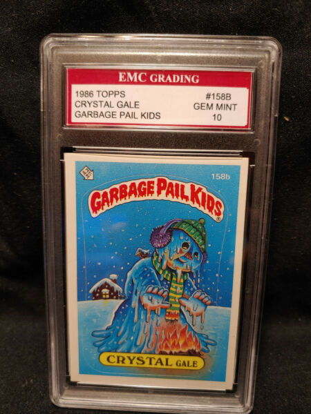 CRYSTAL GALE  1986 TOPPS  Garbage Pail Kids #158B EMC 10 MINT COMBINED SHIP