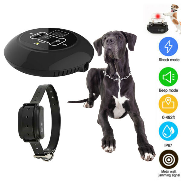 For 1 Dog Wireless Electric Dog Fence Containment System Shock Collar Waterproof $50.67