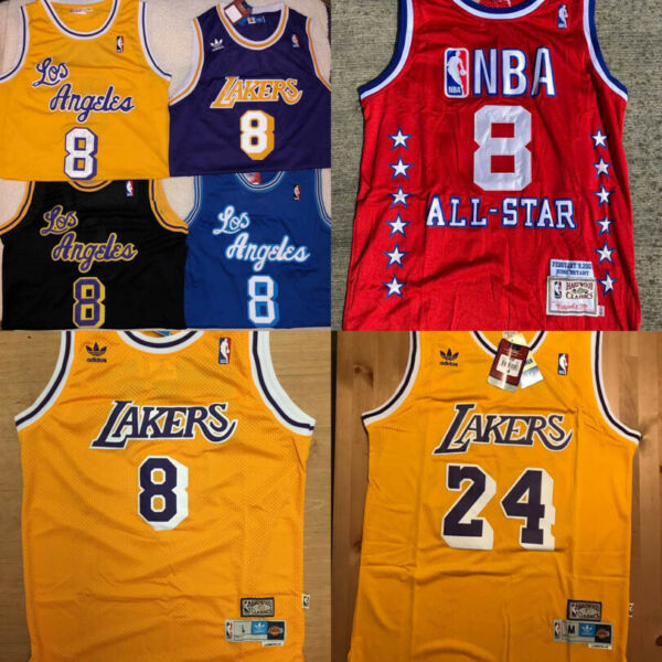 Kobe Bryant #8#24 Los Angeles Lakers Men's Throwback Basketball Stitched Jersey