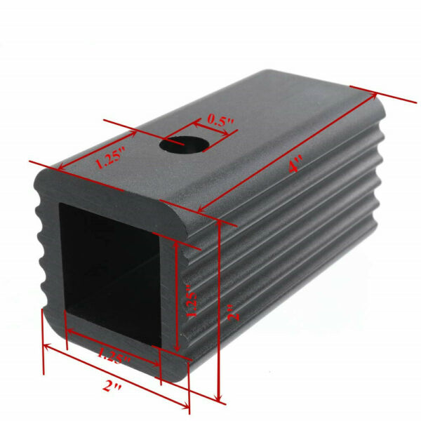 2quot; to 1.25quot; Trailer Receiver Hitch Adapter Insert Mount Sleeve Reducer Rack $17.99