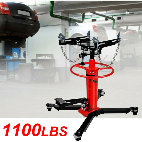 A 1660lbs 0.75Ton Transmission Jack 2 Stage Hydraulic w. 360° for Car Auto Lift $216.19