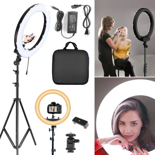 18#x27;#x27; LED SMD Ring Light Kit With Stand Dimmable 5500K For Camera Makeup Phone