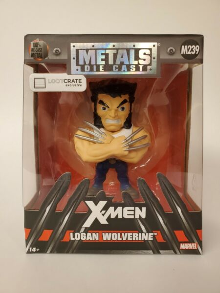 Jada Metals Die Cast X Men Logan Wolverine M239 LootCrate Exclusive Figure 2017