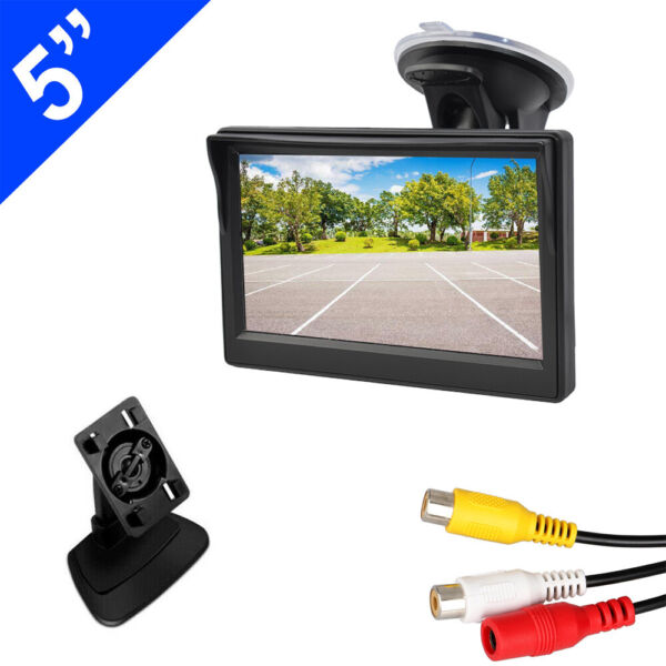 Car Rear View System Monitor 5quot; TFT LCD for Night Vision Backup Reverse Camera