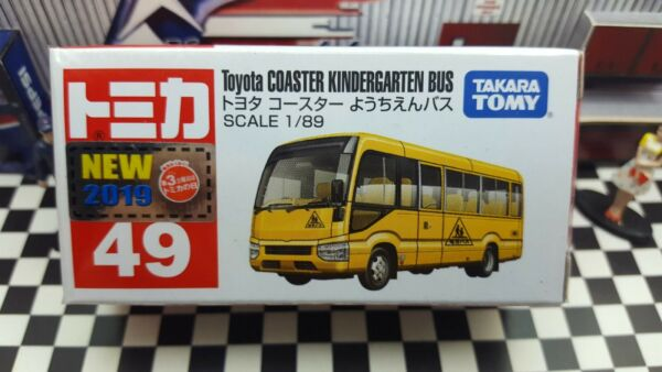 TOMICA #49 TOYOTA COASTER KINDERGARTEN BUS 1 89 SCALE NEW IN BOX WYL