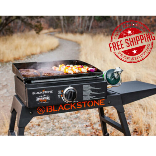 Portable Outdoor Propane Gas Griddle Grill Tabletop Camping Picnic BBQ Barbecue