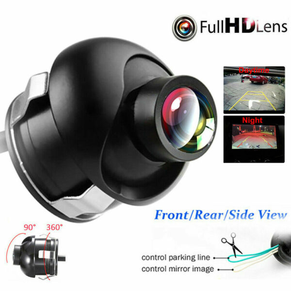 Car Rear Front Side View 360° Rotatable CCD Reversing Backup Camera Night Vision $14.99