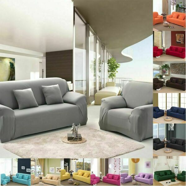 Stretch Sofa Slipcovers Elastic Cover 1 2 3 4 Seater Couch Recliner Covers Couch