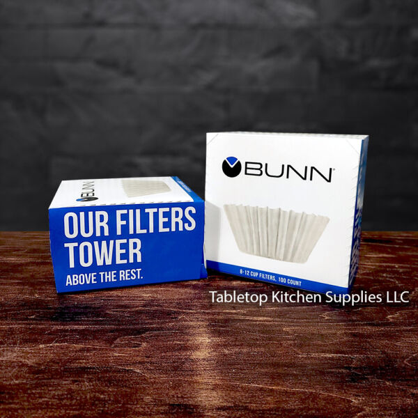 200ct BUNN Coffee Filters 8 12 Cup BCF100 B 2 Boxes of 100ct 8 cup 10 cup