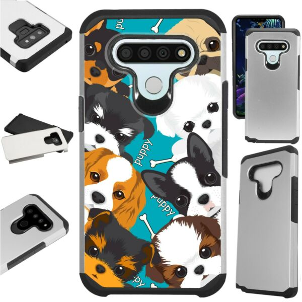 FUSION Case for LG Hybrid Phone Cover CUTE T CUP DOG $13.50
