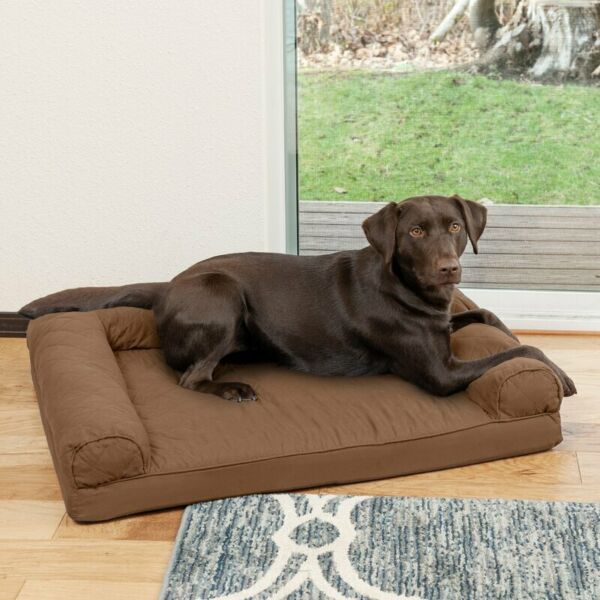 Quilted Orthopedic Dog Sofa bed Foam Core large size $55.98