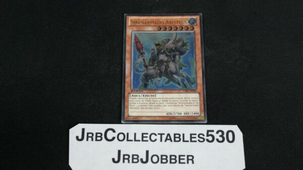"YUGIOH MERMAIL ABYSSTEUS CBLZ EN083 1ST ULTIMATE SPANISH ""HAS SOME PLAY WEARquot;"