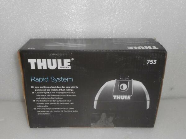 New THULE 753 Rapid System Foot Pack Set Of 4 w One Key System $92.95
