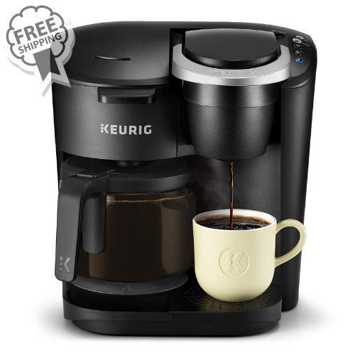 Keurig K Duo Essentials Coffee Maker with Single Serve K Cup Pod and 12 Cup Car