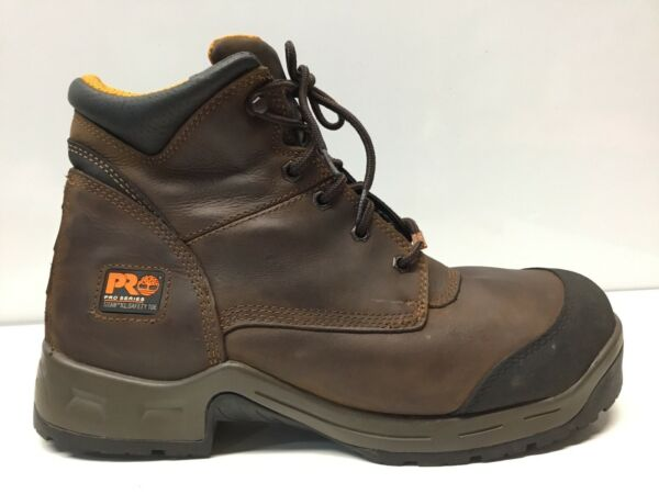 Timberland PRO TITAN Leather Comp Toe Work Boots Mens Size 12M. ⭐️ $88.20