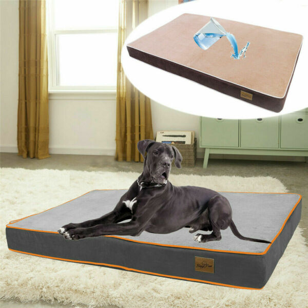 Premium Orthopedic Memory Foam Dog Bed Waterproof Pet Dog Crate Jumbo Mattress $33.96
