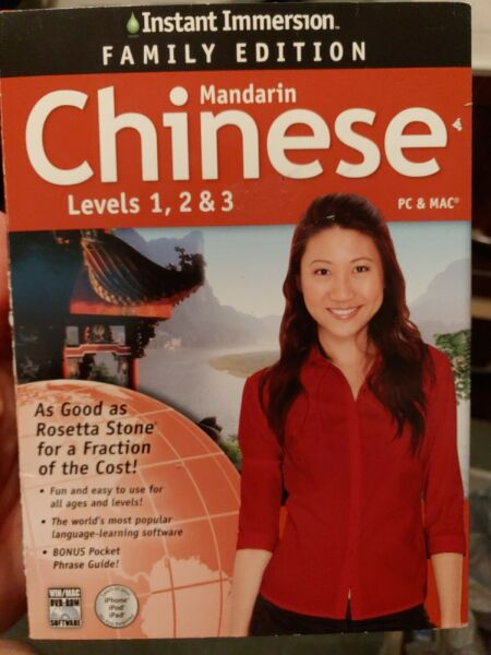 Learn How To Speak Chinese With Instant Immersion Levels 1 3 Retail Box $9.99