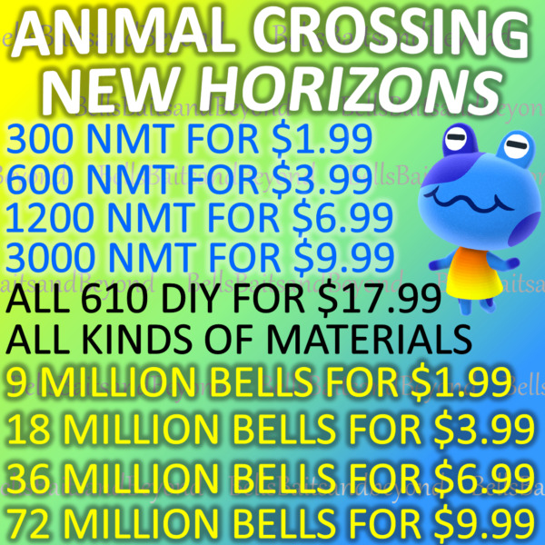 Animal Crossing:New Horizons Bells Nook Mile Tickets Fish Bait Fast Delivery