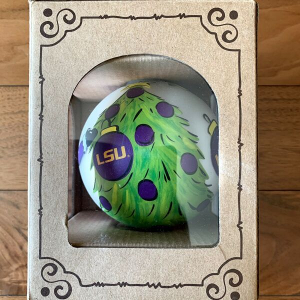 Glory Haus Officially Licensed LSU Louisiana State University Tree Ornament NEW